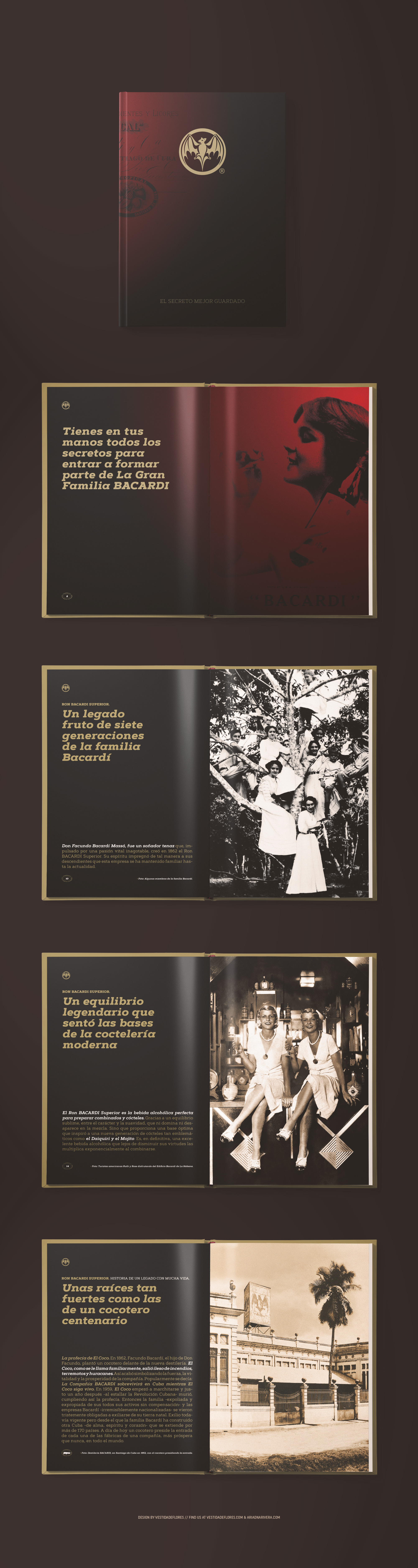 Vestida de flores - Diseño Editorial de lujo para Bacardí