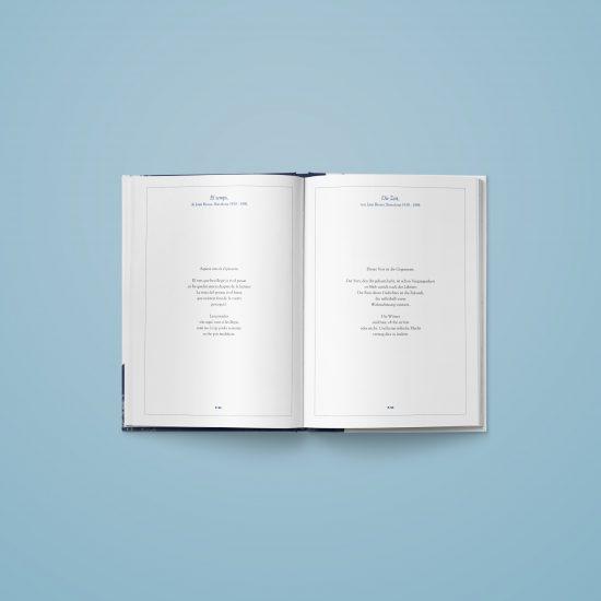 Vestida de flores - Diseño Editorial de un libro de poemas para l'institut Ramon Llull
