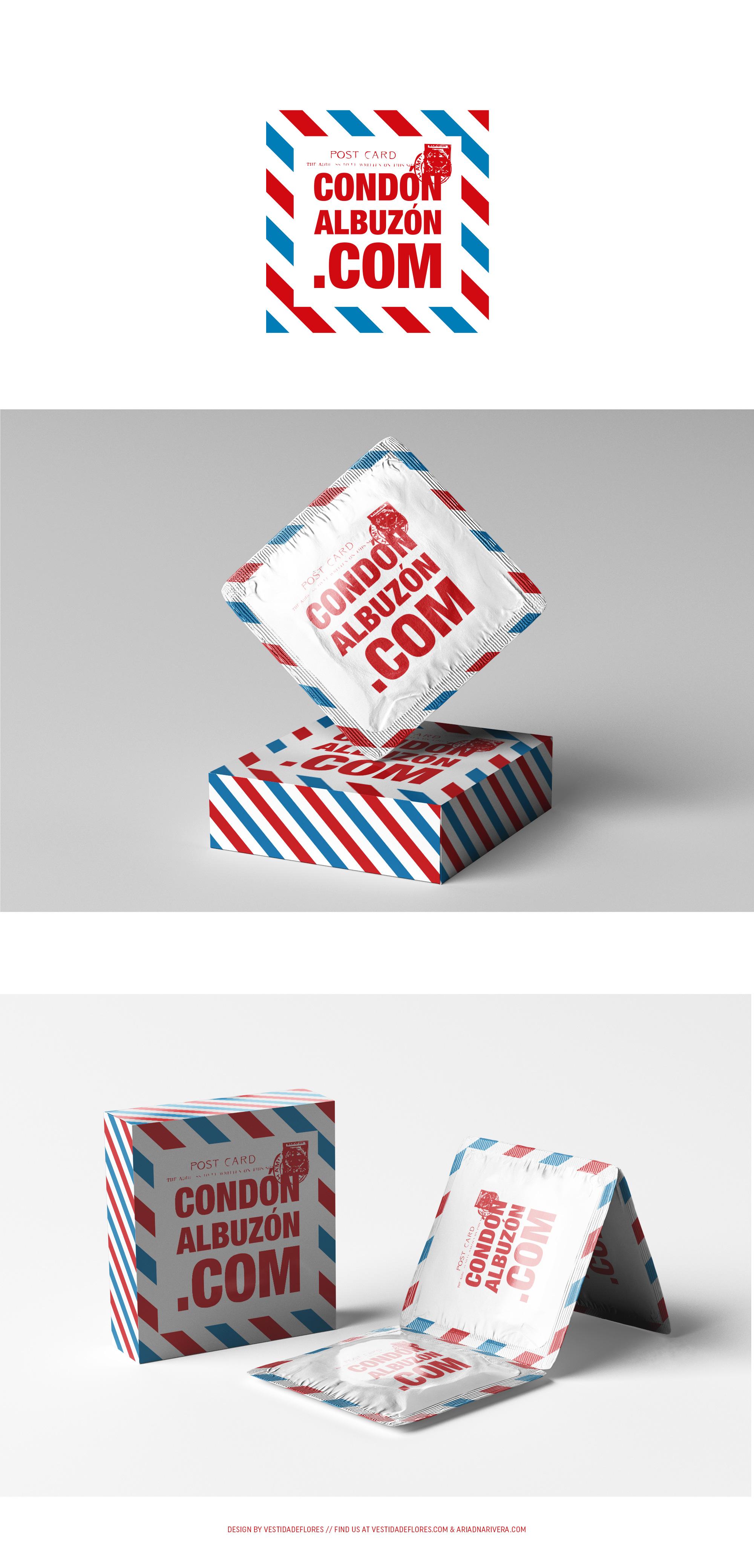 Vestida de flores - Diseño logotipo y packaging para condonalbuzon.com
