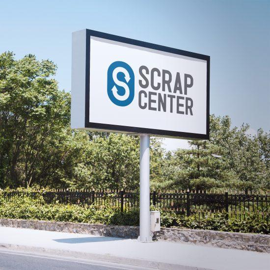 Vestida de flores - Diseño logotipo para centro de chatarra Scrap Center