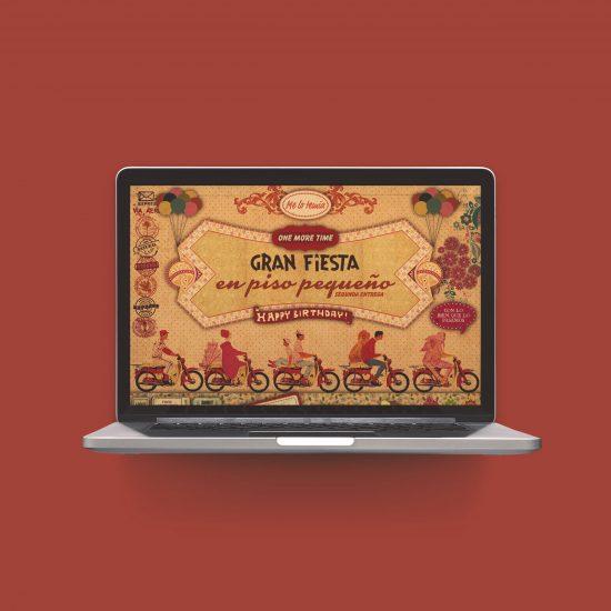 Vestida de flores - Diseño newsletter invitación evento