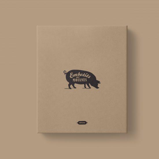 Vestida de flores - Diseño logotipo y packaging empresa sector cárnico Embotits del Moianès