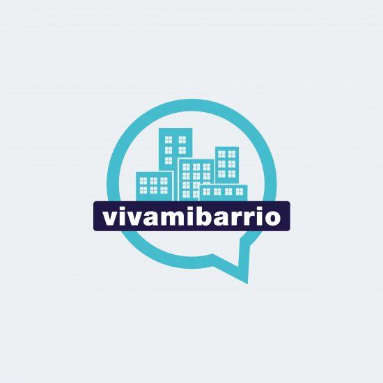 Vestida de flores - Diseño del logotipo para red social vivamibarrio.com