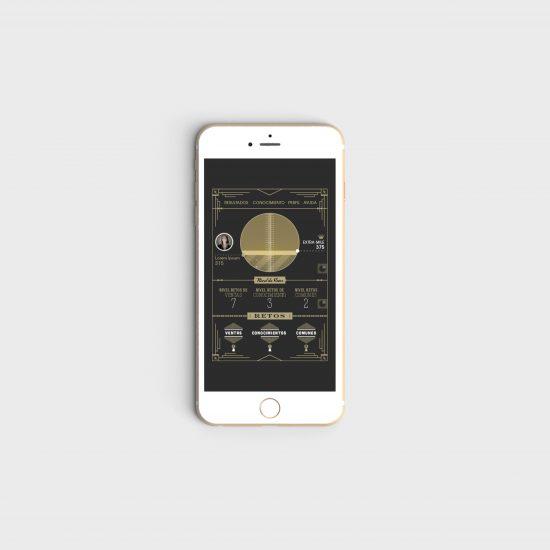 Vestida de flores - Diseño gráfico para App gamificada