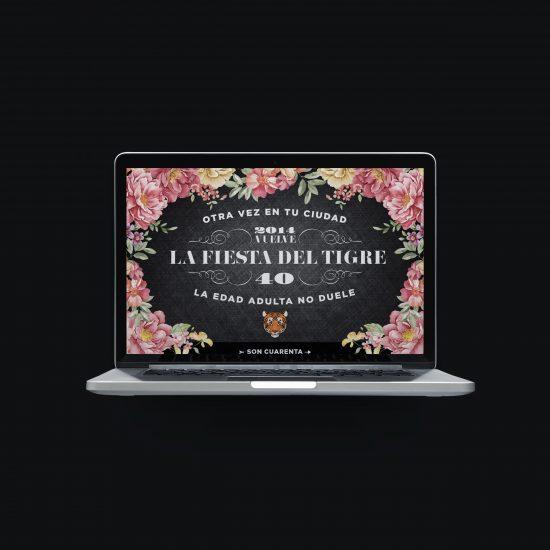 Vestida de flores - Diseño newsletter invitación evento aniversario