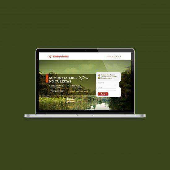 Vestida de flores - Diseño web para La maleta de Stendhal