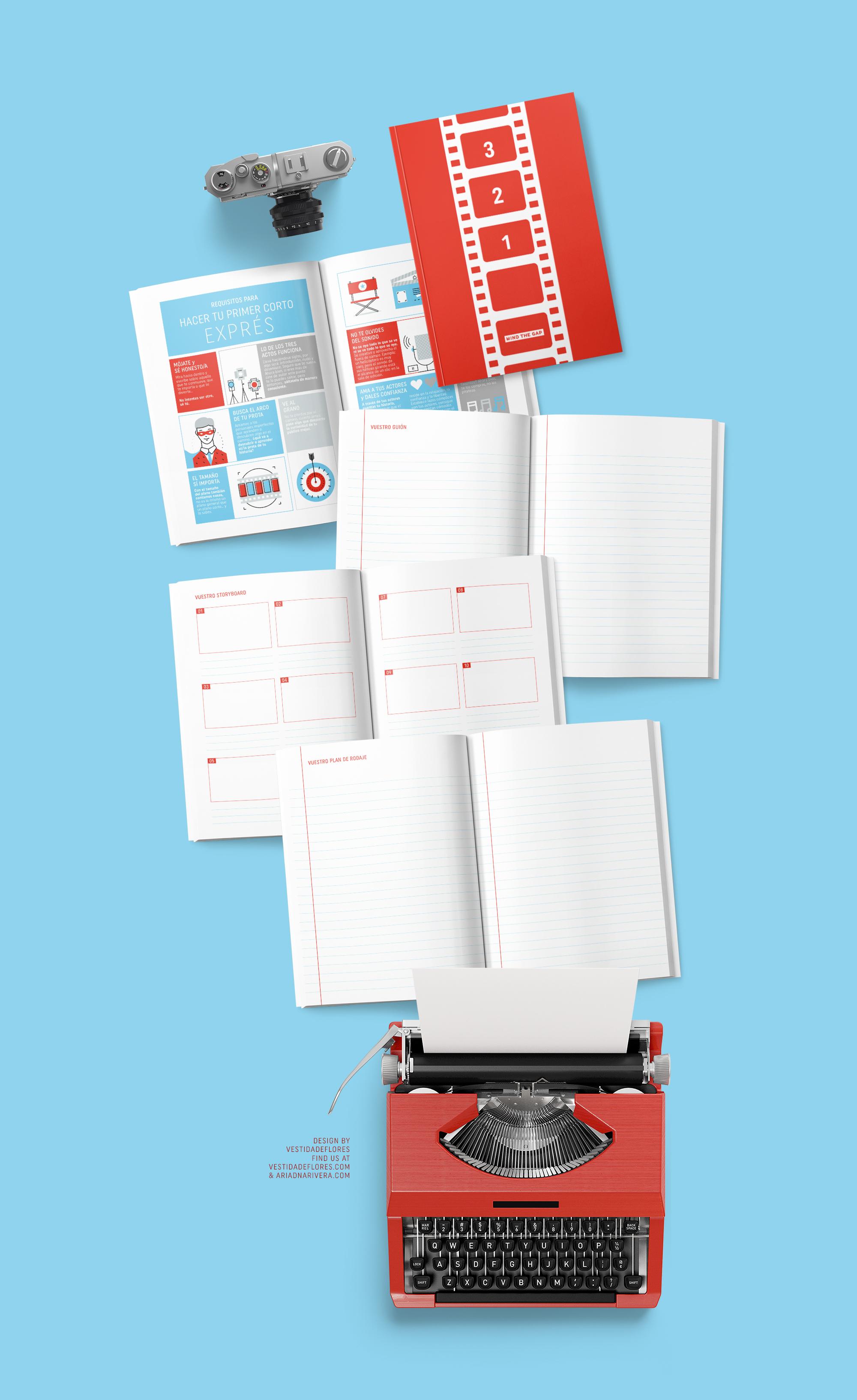 Vestida de flores - Diseño cuaderno de trabajo