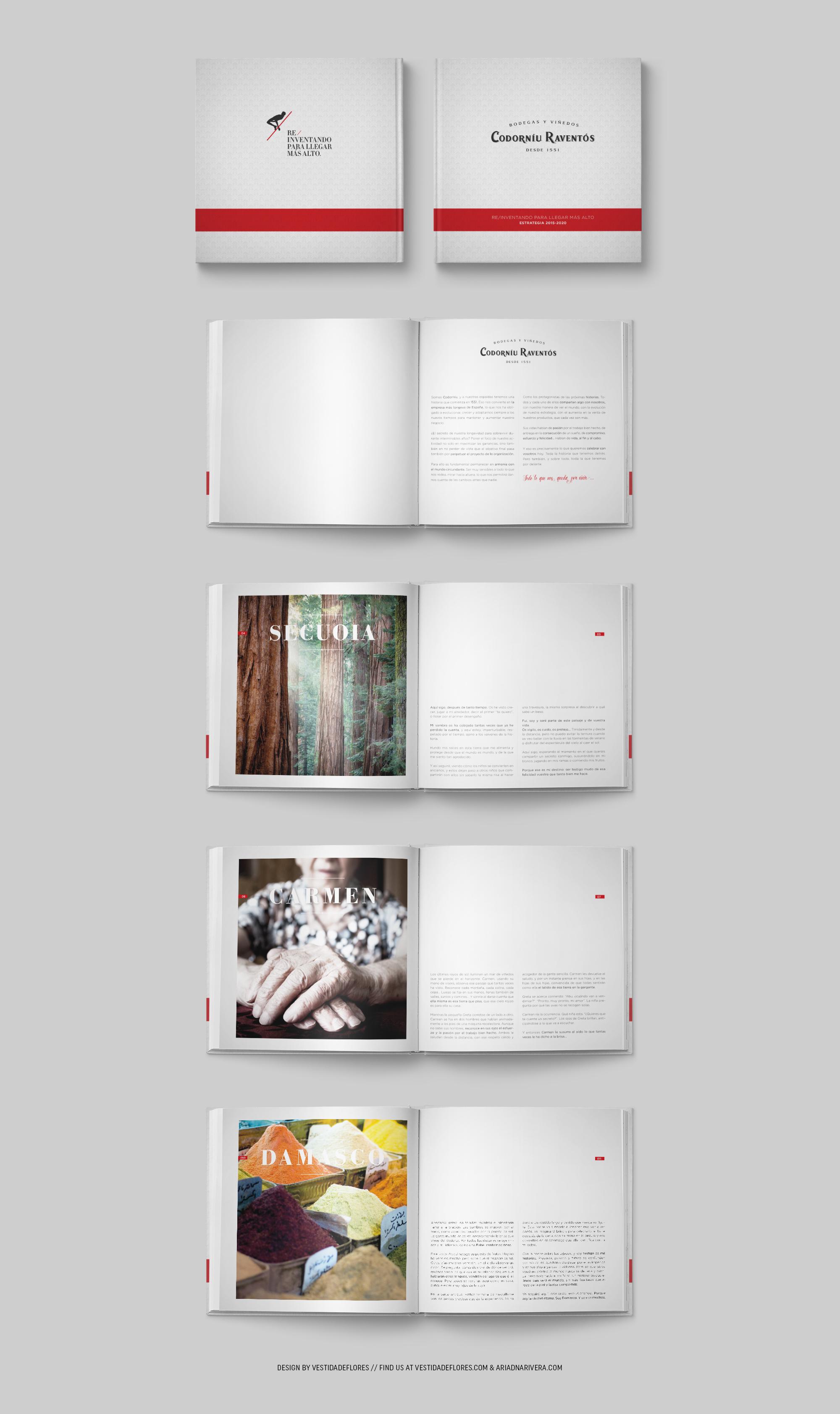 Vestida de flores - Diseño editorial para Codorníu