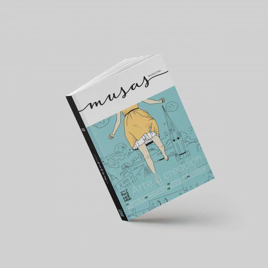 Vestida de flores - Diseño Identidad y revista Musas Magazine