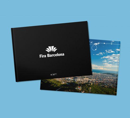 Vestida de flores - Diseño folleto para Fira Barcelona