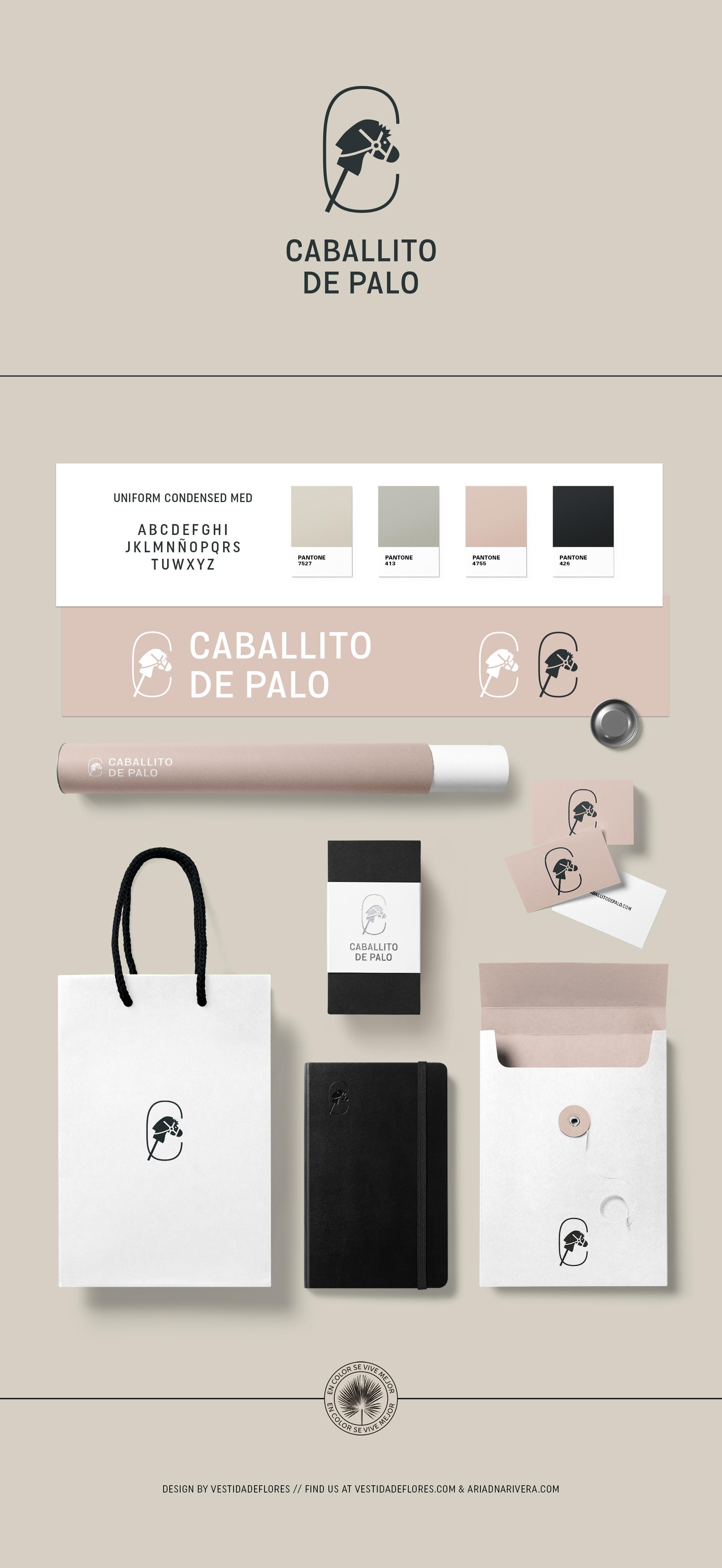 Vestida de flores - Diseño logotipo Editorial Caballito de Palo