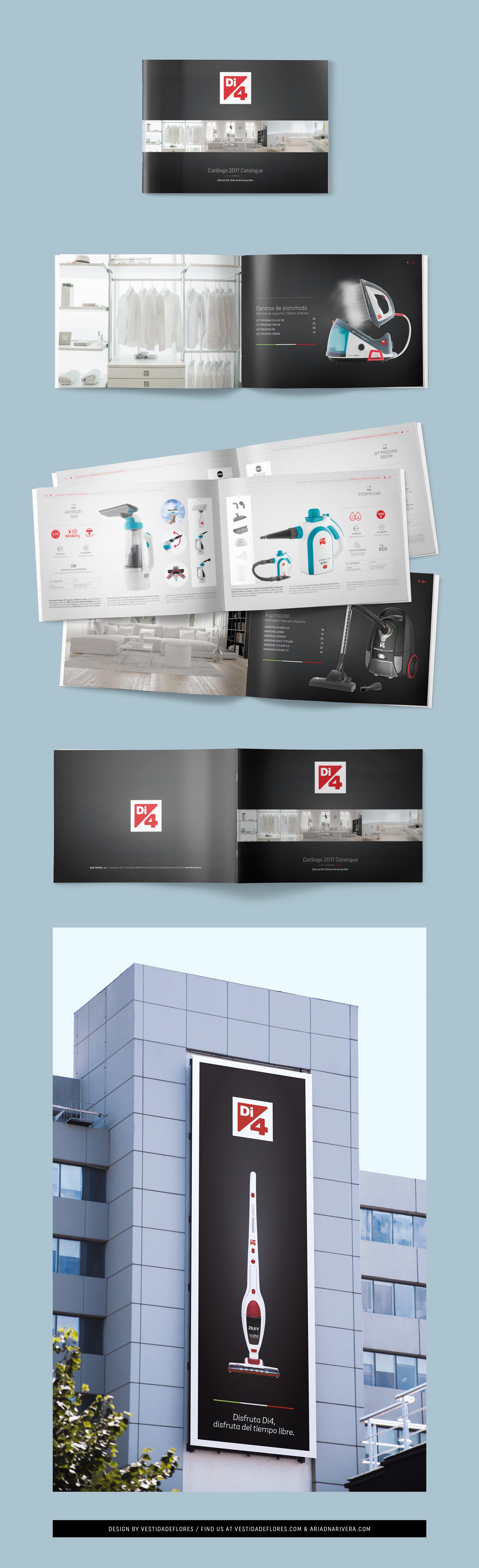 Vestida de flores - Diseño catálogo electrodomésticos Di4