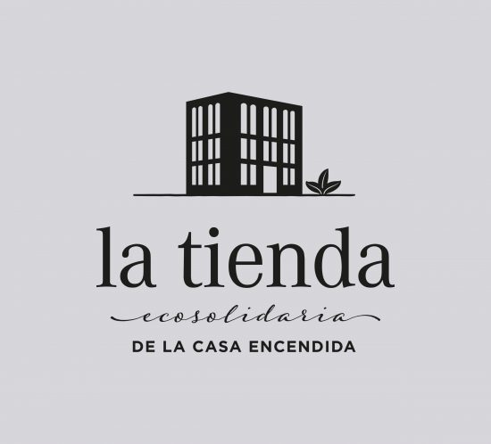 Vestida de flores - Diseño logotipo Tienda Ecosolidaria de la Casa Encendida de Madrid