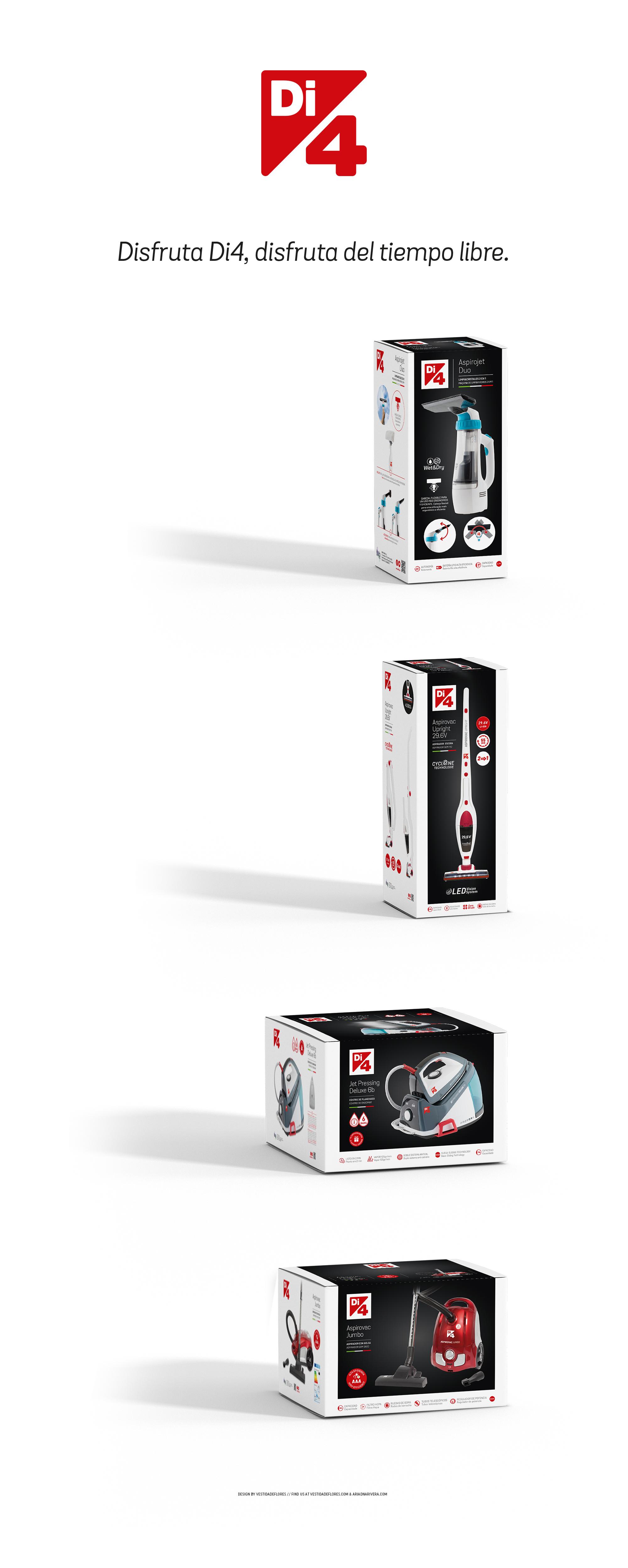 Vestida de Flores - Diseño packaging electrodomésticos Di4