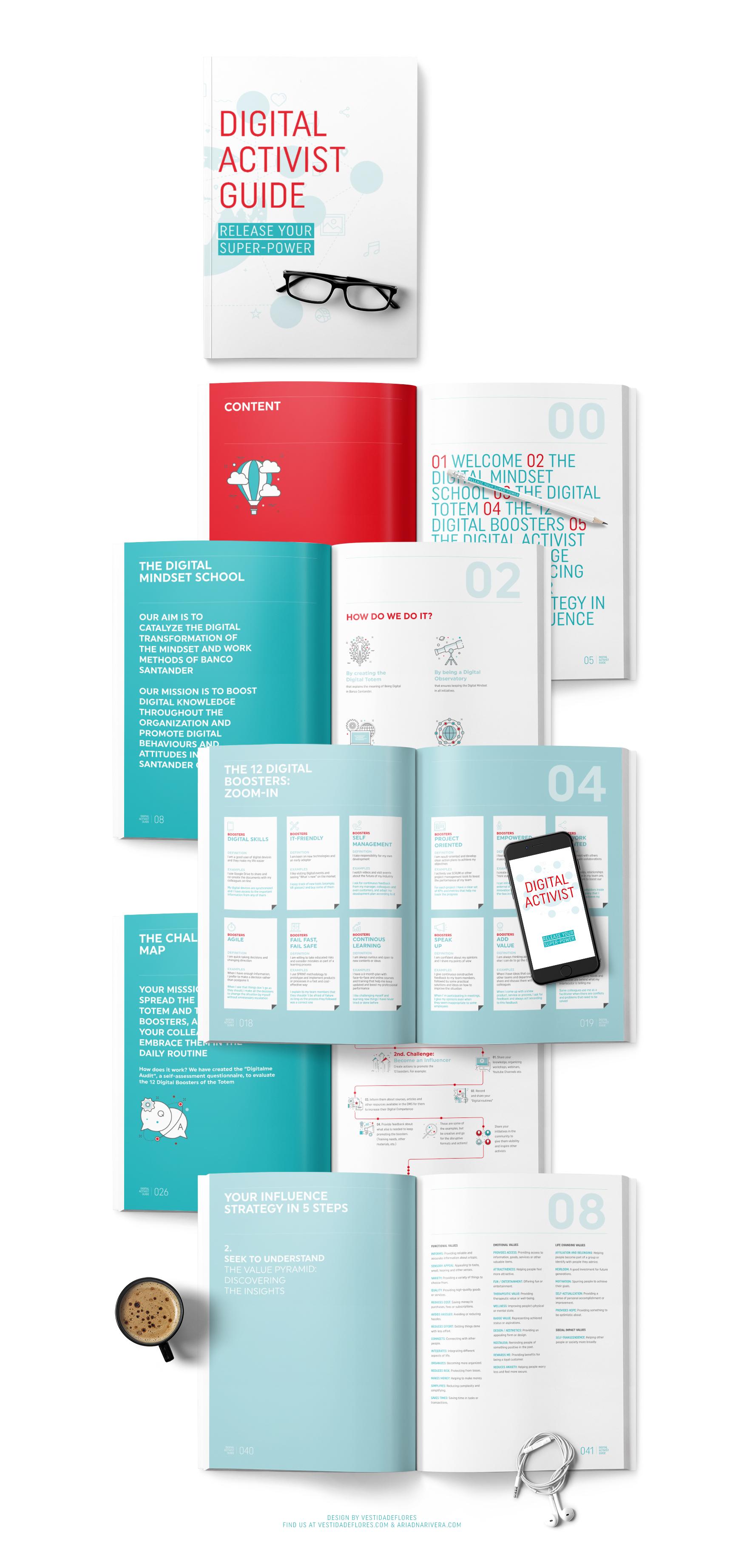 Vestida de flores - Diseño cuaderno aprendizaje para banca