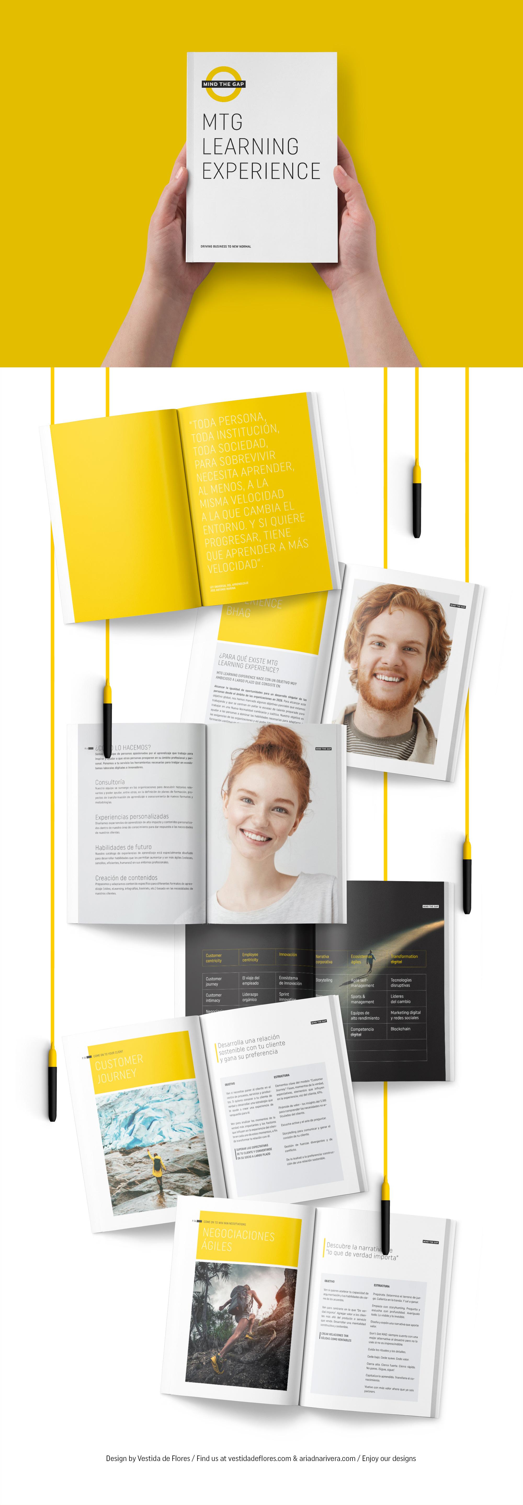 Vestida de flores - Diseño Catálogo de formación para consultora