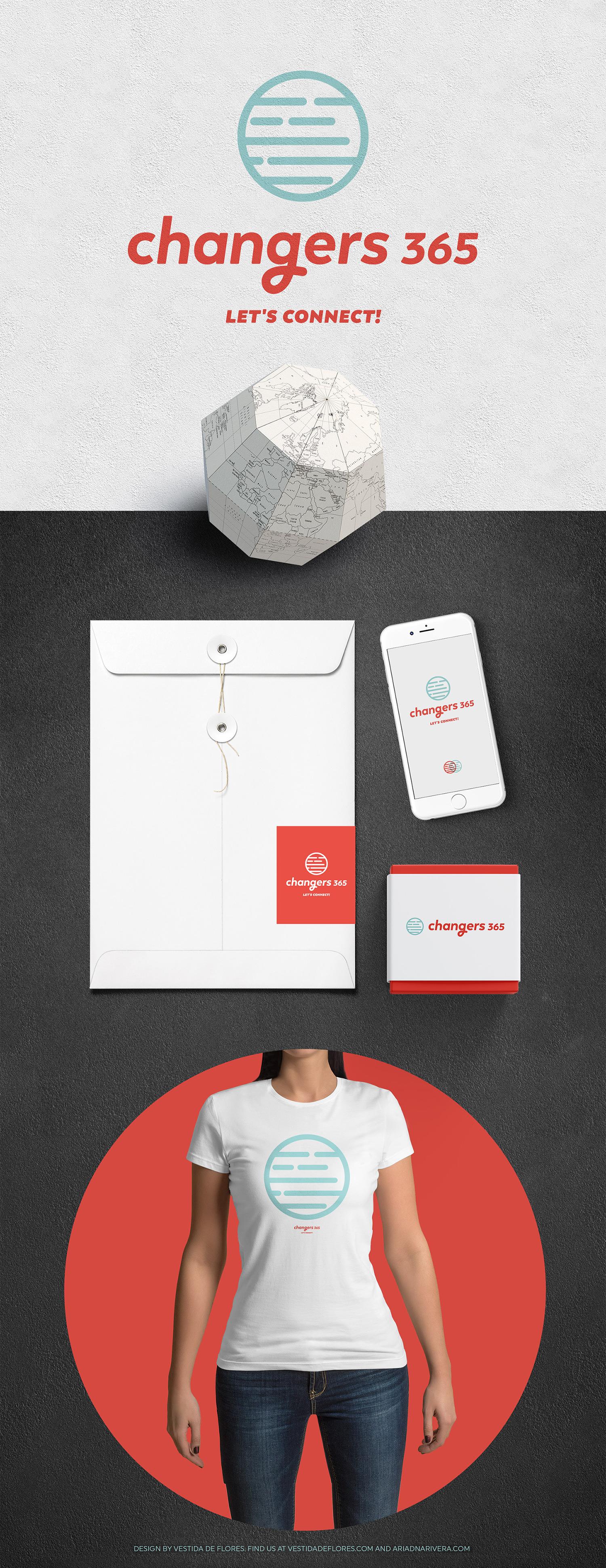 Vestida de flores - Diseño Logotipo Changers 365