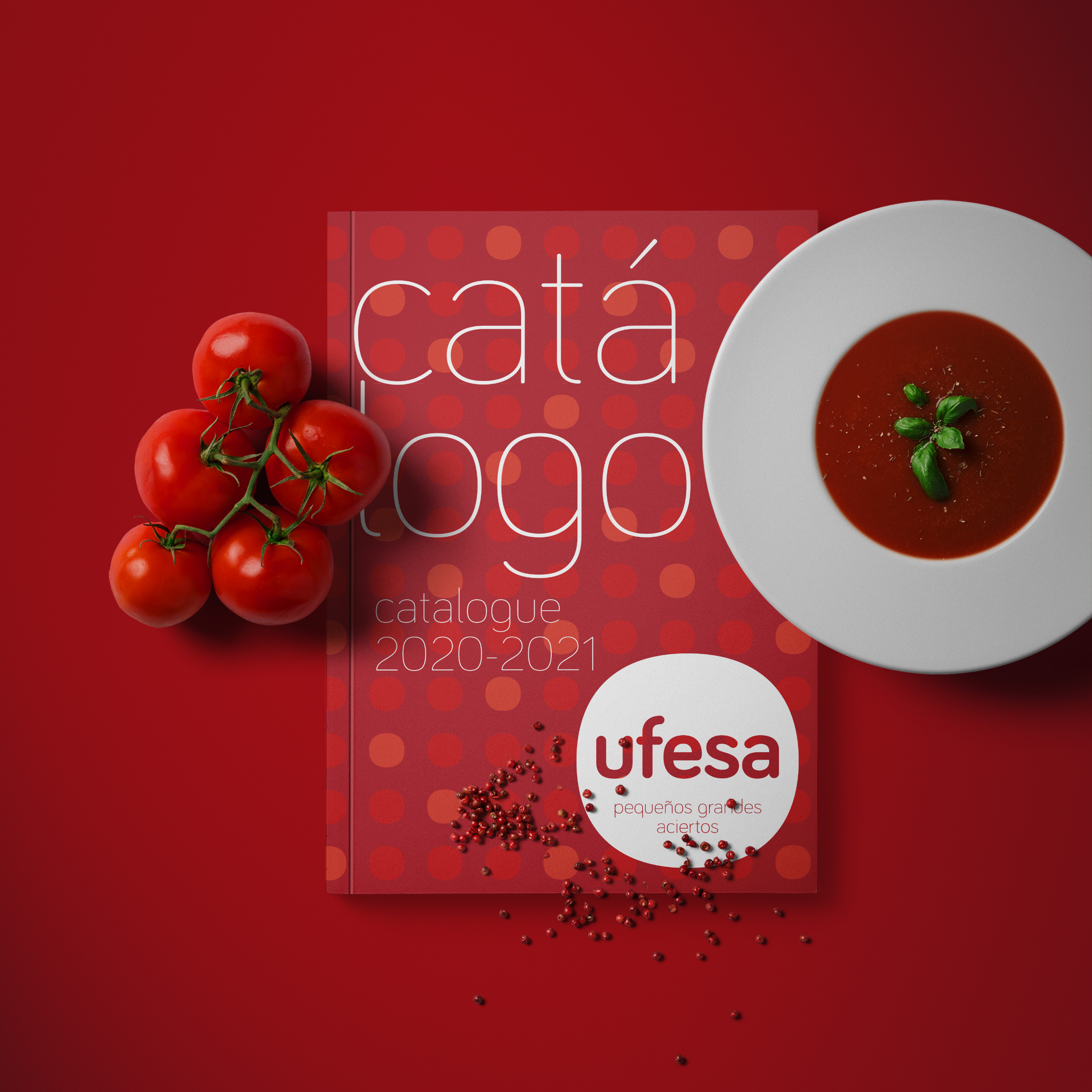 Vestida de flores - Diseño Catálogo productos electrodomésticos Ufesa