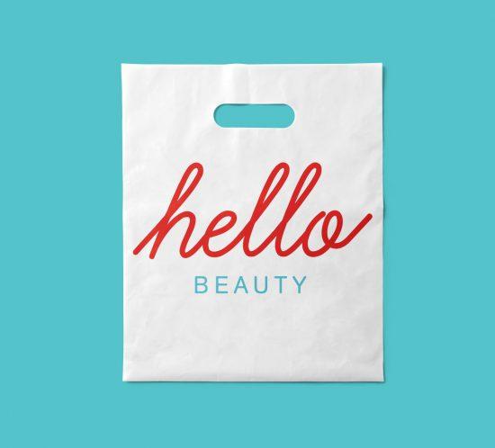 Vestida de flores - Diseño identidad corporativa y packaging centros de belleza Hello Beauty