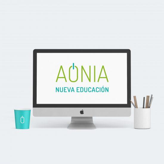 Vestida de flores - Diseño del logotipo y la identidad corporativa para Aonia