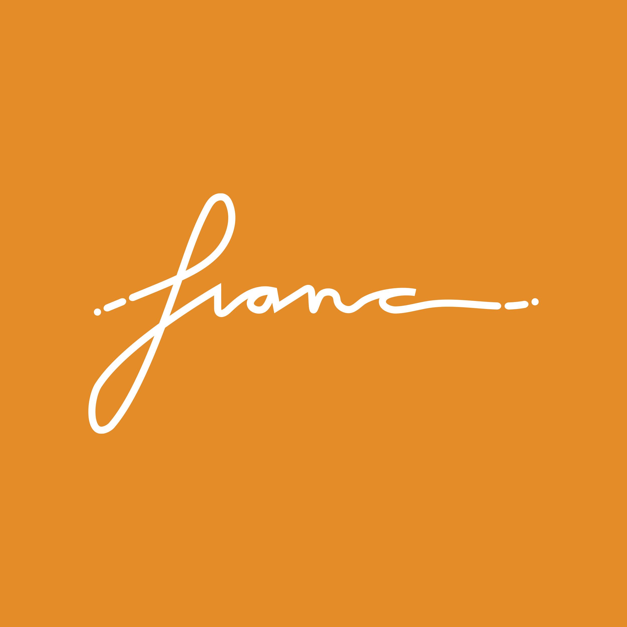 Vestida de flores - Diseño logotipo Franc
